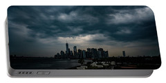 Portable Battery Charger featuring the photograph Little Manhattan Under A Cloud by Chris Lord