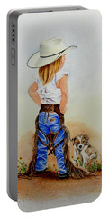 Little Miss Big Britches Portable Battery Charger