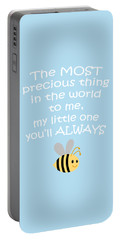 Little One Blue Portable Battery Charger by Inspired Arts