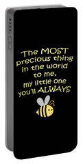 Little One You'll Always Bee Print Portable Battery Charger by Inspired Arts