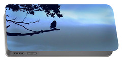 Little Owl Watching Portable Battery Charger