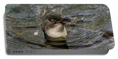 Little Penguin In The Water Portable Battery Charger