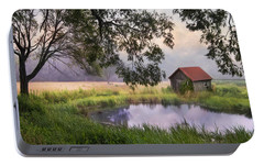 Portable Battery Charger featuring the photograph Little Pond by Robin-Lee Vieira