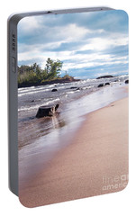 Portable Battery Charger featuring the photograph Little Presque Isle by Phil Perkins