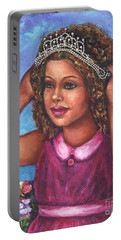 Portable Battery Charger featuring the painting Little Princess by Alga Washington