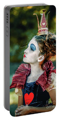 Portable Battery Charger featuring the photograph Little Princess Of Hearts Alice In Wonderland by Dimitar Hristov