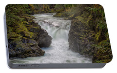 Portable Battery Charger featuring the photograph Little Qualicum Lower Falls by Randy Hall
