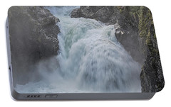 Portable Battery Charger featuring the photograph Little Qualicum Upper Falls by Randy Hall