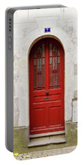 Portable Battery Charger featuring the photograph Little Red Door by Melanie Alexandra Price
