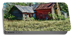 Portable Battery Charger featuring the photograph Little Red Farmhouse by Paul Ward