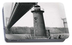 Portable Battery Charger featuring the photograph Little Red Lighthouse, 1961 by Cole Thompson