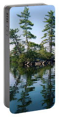 Little Rocky Pine Tree Island On Parker Pond Portable Battery Charger