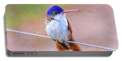 Portable Battery Charger featuring the photograph Little Rufus by John Kolenberg