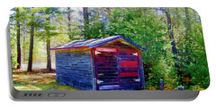 Portable Battery Charger featuring the photograph Little Shed At Farm by Shirley Moravec