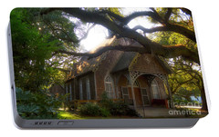 Portable Battery Charger featuring the photograph Little Southern Chapel by Kathy Baccari
