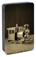 Portable Battery Charger featuring the photograph Little Steam Locomotive by Edward Fielding