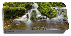 Little Waterfalls Along Wahkeena Creek Portable Battery Charger