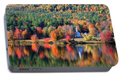 Portable Battery Charger featuring the photograph 'little White Church', Eaton, Nh by Larry Landolfi