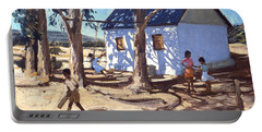 Little White House Karoo South Africa Portable Battery Charger by Andrew Macara