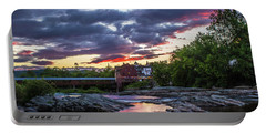 Littleton Sunset On The Rocks Portable Battery Charger