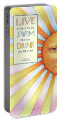 Live In The Sunshine Portable Battery Charger