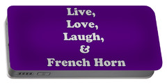 Live Love Laugh And French Horn 5600.02 Portable Battery Charger