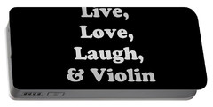 Live Love Laugh And Violin 5612.02 Portable Battery Charger