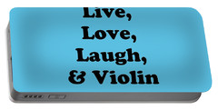 Live Love Laugh And Violin 5613.02 Portable Battery Charger