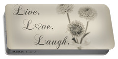 Live Love Laugh - Botanical Portable Battery Charger