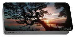 Portable Battery Charger featuring the photograph Live Oak Sunrise by Benanne Stiens