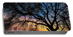 Live Oak Under A Rainbow Sky Portable Battery Charger
