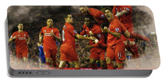 Liverpool V Leicester City Portable Battery Charger by Don Kuing