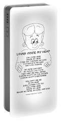 Portable Battery Charger featuring the drawing Living Inside My Head by John Haldane
