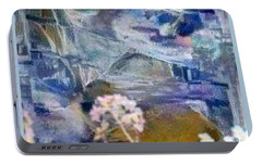 Portable Battery Charger featuring the mixed media Living It by Ray Tapajna