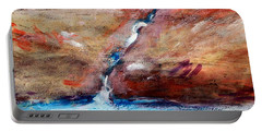 Portable Battery Charger featuring the painting Living Water by Winsome Gunning