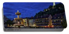 Portable Battery Charger featuring the photograph Ljubljana Night Scene #2 - Slovenia by Stuart Litoff