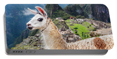 Llama At Machu Picchu Portable Battery Charger