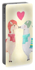 Llamas In Love Portable Battery Charger