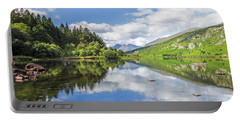 Llyn Mymbyr And Snowdon Portable Battery Charger by Ian Mitchell