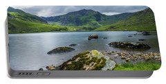 Llyn Ogwen Glyder Fawr Portable Battery Charger by Ian Mitchell