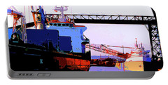 Loading The Iron Ore On The Great Lakes Freighters Portable Battery Charger