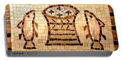 Portable Battery Charger featuring the photograph Loaves And Fishes Mosaic by Lou Ann Bagnall