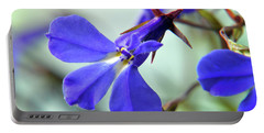 Lobelia Erinus Portable Battery Charger by Terence Davis