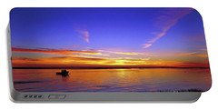 Lobster Boat At Sunrise. Portable Battery Charger