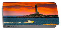 Lobster Boat Cape Cod Portable Battery Charger by Randall Branham