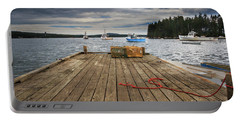Lobster Boats Of Winter Harbor Portable Battery Charger