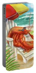 Lobster Drinking A Margarita Portable Battery Charger