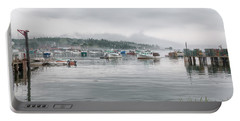 Portable Battery Charger featuring the photograph Lobster Fleet by John M Bailey