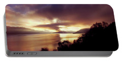Loch Ness Winter Sunset Portable Battery Charger