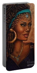Portable Battery Charger featuring the painting Locks by Alga Washington